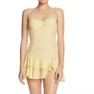 For love & lemons limoncello mini dress M NWT